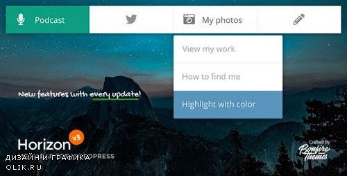 CodeCanyon - Horizon v3.2 - Menu Bar Plugin for WordPress - 5242155