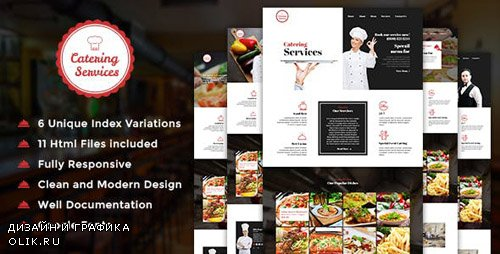 ThemeForest - Catering - Chef and Food Restaurant Template | Chef Portfolio (Update: 8 April 17) - 16163028