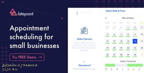 CodeCanyon - LatePoint v1.7.0 - Appointment Booking & Reservation plugin for WordPress - 22792692