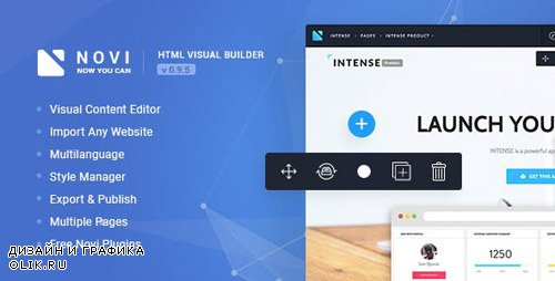 ThemeForest - Novi v0.9.5 - HTML Page Builder & Visual Content Editor - 20530305