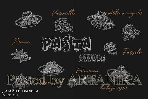 Pasta Handrawn Doodle
