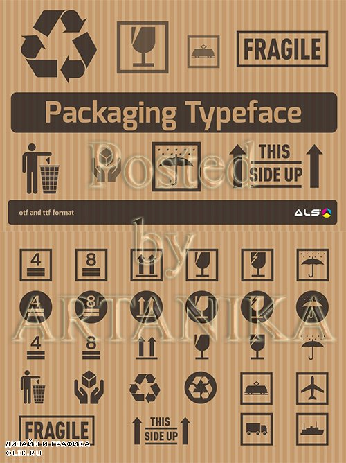 - Packaging Typeface 1112639