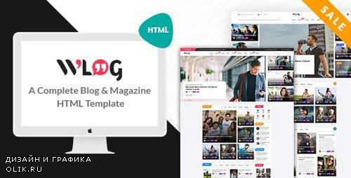 ThemeForest - Wlog v1.0 - Blog and Magazine HTML Template - 22870189