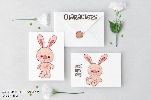 Cute Rabbit - vector clip art - 3717345