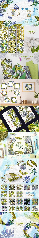 Tropical heat Watercolor png - 3720207