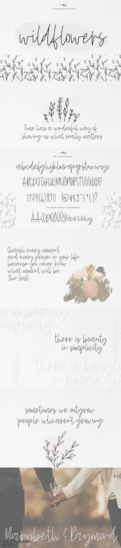 Wildflowers - A Handwritten Font - 3332426