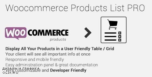 CodeCanyon - Woocommerce Products List Pro v1.1.19 - 17893660