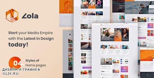 ThemeForest - Zola v1.0 - Concept Magazine News Blogs PSD Template - 23330829