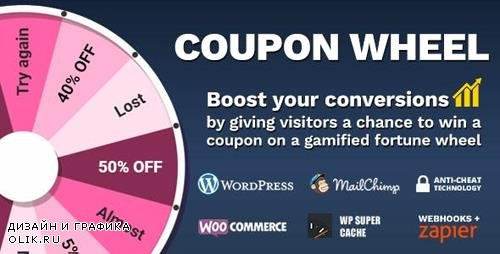 CodeCanyon - Coupon Wheel For WooCommerce and WordPress v2.7.0 - 20949540
