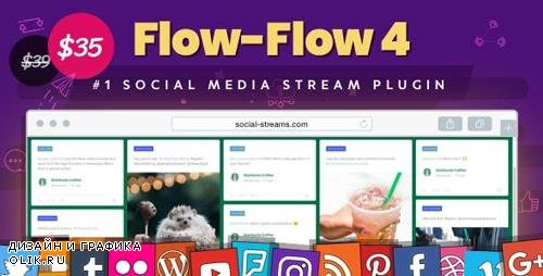CodeCanyon - Flow-Flow v4.1.15 - Facebook Instagram Twitter Feed - WordPress Social Stream & Grid Gallery Plugin - 9319434