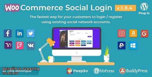 CodeCanyon - WooCommerce Social Login v1.9.4 - WordPress Plugin - 8495883
