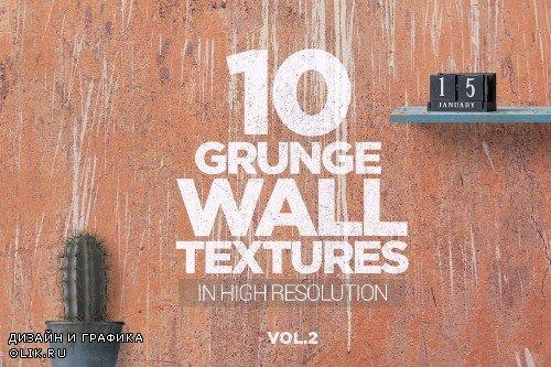 Grunge Wall Textures x10 vol2 - 3726836