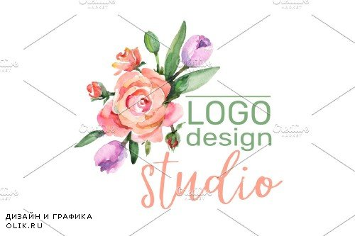LOGO with roses and narcissus - 3727159