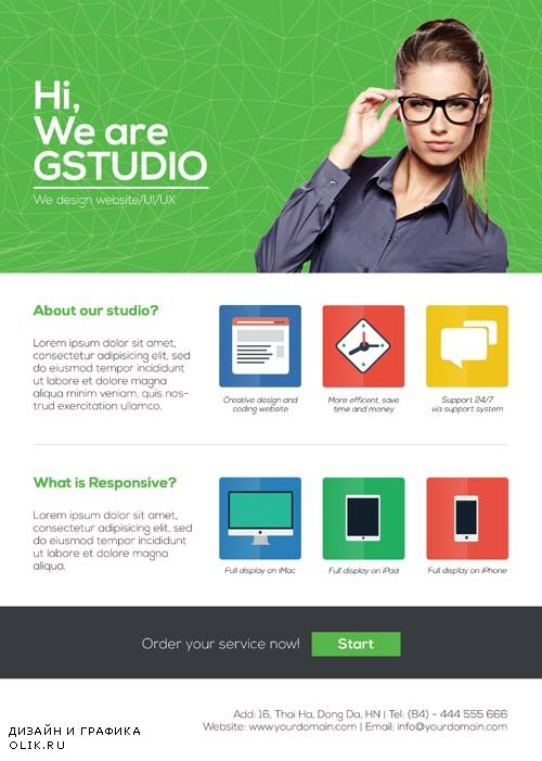 Web Design Studio psd flyer template
