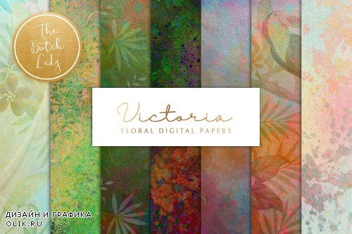 Floral Background & Paper - Victoria - 3725899