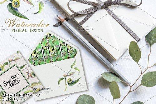 Eucalyptus Watercolor png - 3728302
