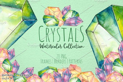 Crystals are blue, green and red - 3663818