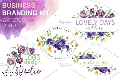 LOGO with violas Watercolor png - 3727638