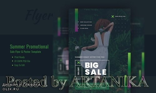 Summer Promotional sales Flyer and Poster Template