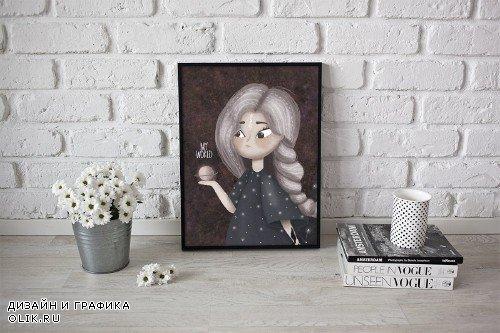 Cute girl illustration - 2312061