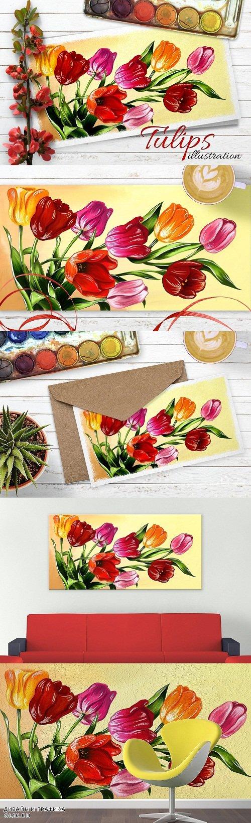 Tulips digital painting - 2488766