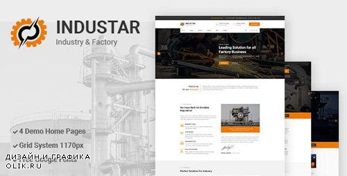 ThemeForest - Industar v1.0 - Industry & Factory PSD Template - 23437374