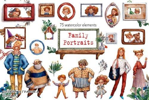 Family Portraits - Watercolor Set - 3516112