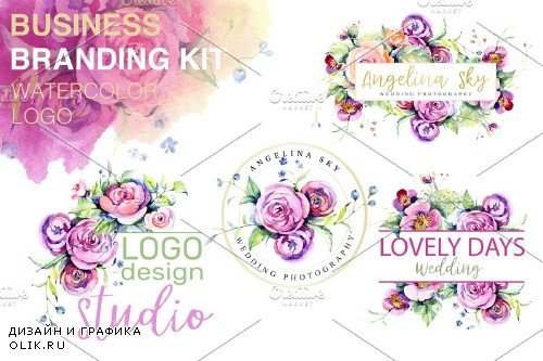 LOGO with roses and wildflowers - 3736508