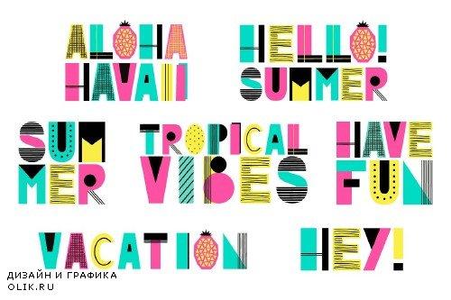 Cute Summer Alphabet - 1768355