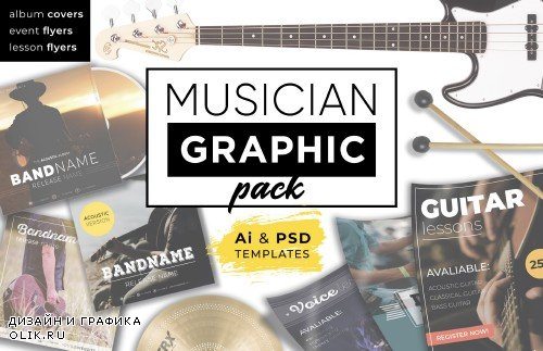 Musician Graphic pack - 3628601