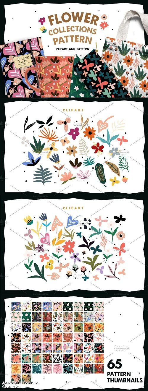 Flower Collections Pattern - 3738006