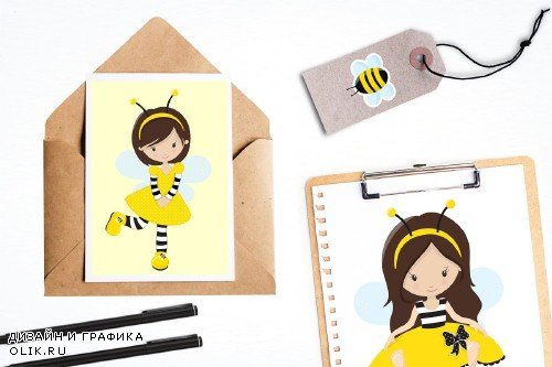 Busy Bees illustration pack - 1434101