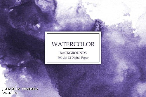 Purple Watercolor Backgrounds - 3062997
