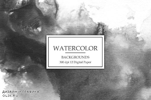 Black Watercolor Backgrounds - 3069963