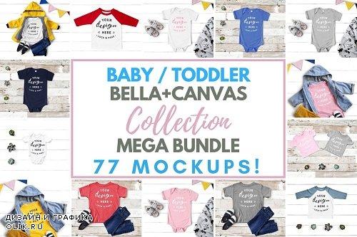 Baby Toddler Bella Canvas Mockups - 3391110