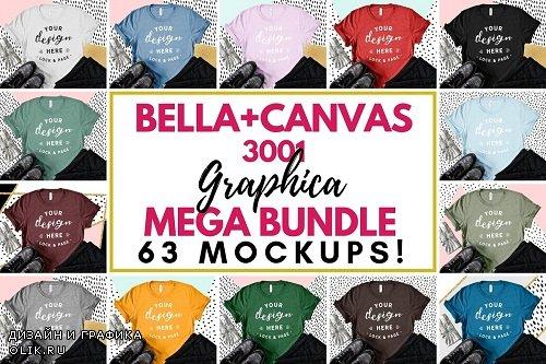 Bella Canvas 3001 Graphic Mockups - 3180336