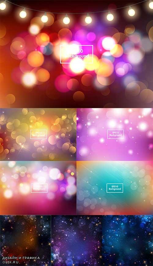Разноцветные абстрактные фоны в векторе / Multicolored abstract backgrounds in vector