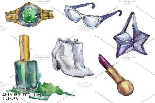 Fashion world watercolor png - 3747735