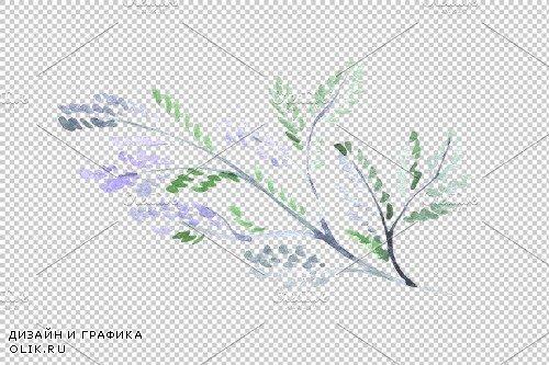 A bouquet of love flies watercolor - 3746123