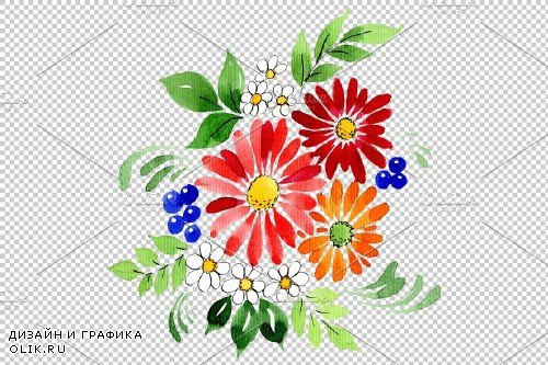 Bouquet Gifts of Nature watercolor - 3748302