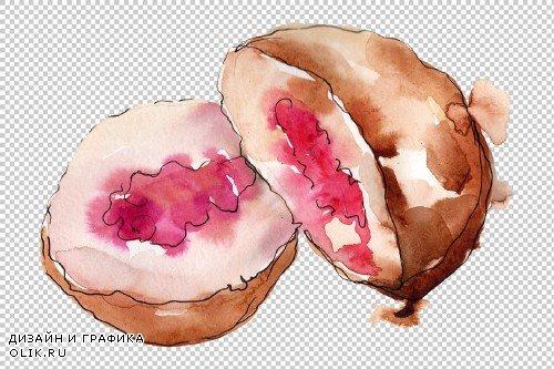 Dessert berry joy watercolor png - 3746105