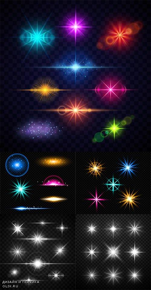 Свет и звёзды - Векторный клипарт / Light and stars - Vector Graphics