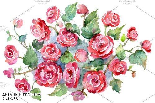 Bouquet of roses pink Metamorphosis - 3755719