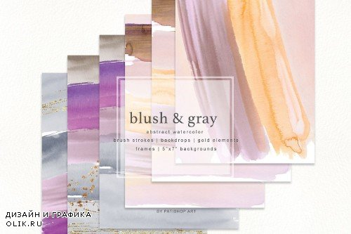 Watercolor Brush Strokes Backdrops - 3746893