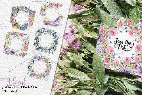 Bouquet Flower date watercolor png - 3757088