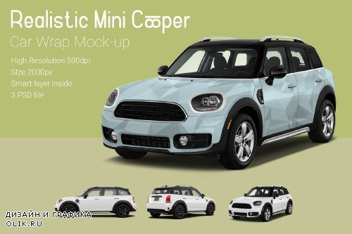 Mini Cooper Car Mock-Up - 3760360