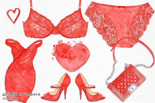 Watercolor Fashion clipart - 847702