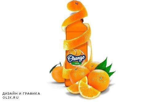 Bottle Juice Mockup Advertising - 3728390