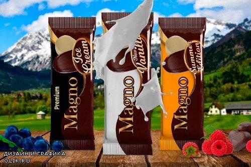 Popsicle Ice Cream Mockup - 3730412