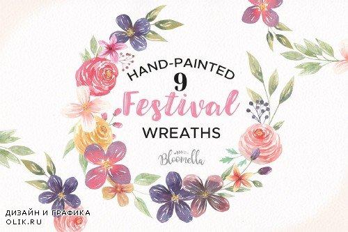 Festival Flower Wreaths Floral Set - 2570594